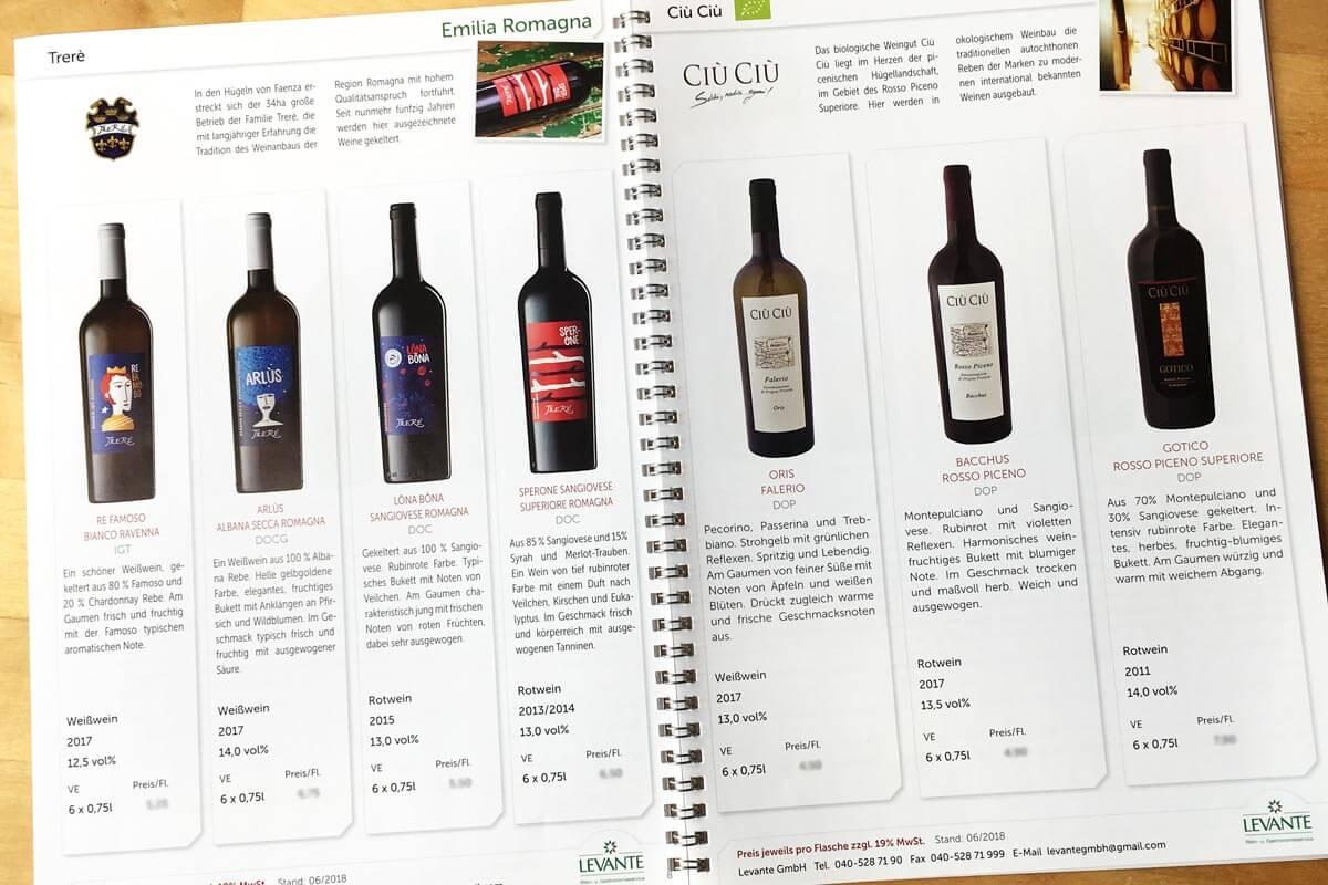 Weinkatalog Levante GmbH 2018